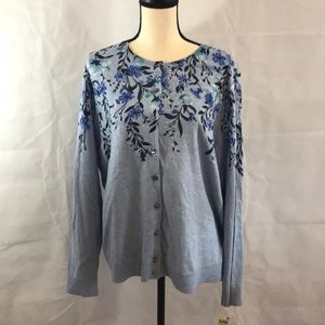 Pretty Button Up Sweater New With Tags Size 0X